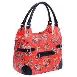 Polykatoen Shopper - Red Flower
